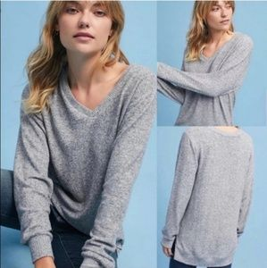 Anthro Saturday Sunday Cozy Hacci Grey Sweater